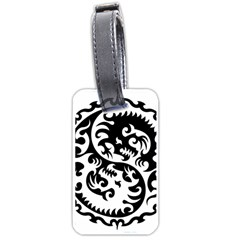Ying Yang Tattoo Luggage Tags (two Sides)