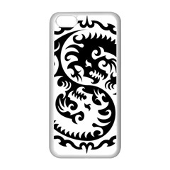Ying Yang Tattoo Apple Iphone 5c Seamless Case (white)
