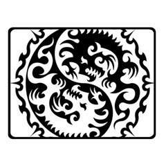 Ying Yang Tattoo Double Sided Fleece Blanket (small)  by BangZart