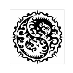 Ying Yang Tattoo Small Satin Scarf (square)