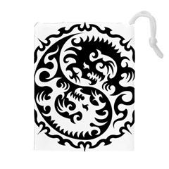 Ying Yang Tattoo Drawstring Pouches (extra Large)