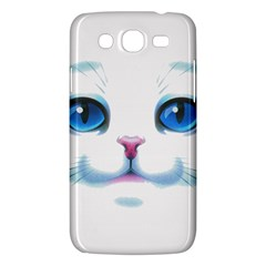 Cute White Cat Blue Eyes Face Samsung Galaxy Mega 5 8 I9152 Hardshell Case  by BangZart