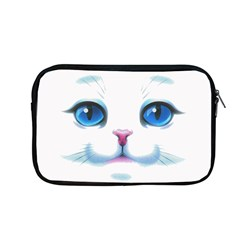 Cute White Cat Blue Eyes Face Apple Macbook Pro 13  Zipper Case