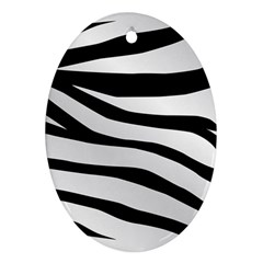 White Tiger Skin Ornament (oval) by BangZart