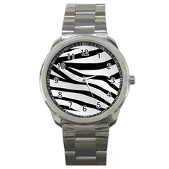 White Tiger Skin Sport Metal Watch