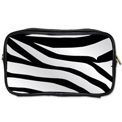 White Tiger Skin Toiletries Bags