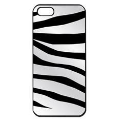 White Tiger Skin Apple Iphone 5 Seamless Case (black)