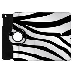 White Tiger Skin Apple Ipad Mini Flip 360 Case