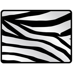 White Tiger Skin Double Sided Fleece Blanket (large)