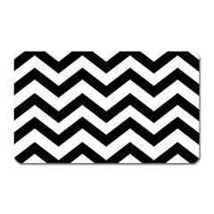 Black And White Chevron Magnet (rectangular) by BangZart