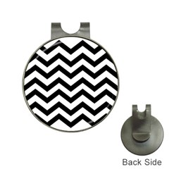 Black And White Chevron Hat Clips With Golf Markers