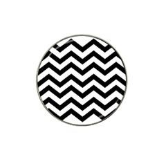 Black And White Chevron Hat Clip Ball Marker (4 Pack)