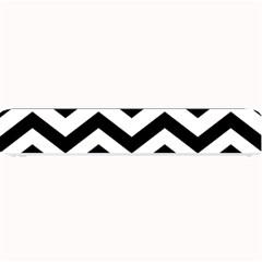 Black And White Chevron Small Bar Mats