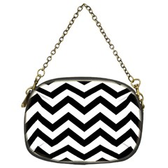 Black And White Chevron Chain Purses (one Side)
