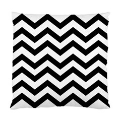 Black And White Chevron Standard Cushion Case (two Sides)