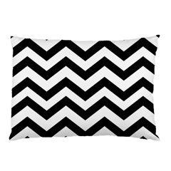 Black And White Chevron Pillow Case by BangZart