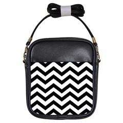 Black And White Chevron Girls Sling Bags