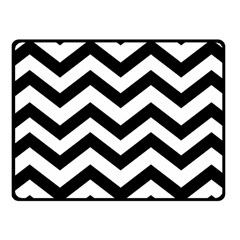 Black And White Chevron Fleece Blanket (small)