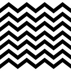Black And White Chevron Magic Photo Cubes