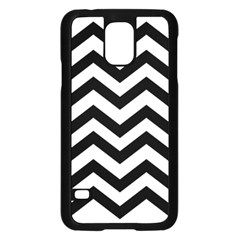 Black And White Chevron Samsung Galaxy S5 Case (black)
