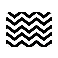 Black And White Chevron Double Sided Flano Blanket (mini)