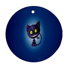 Funny Cute Cat Ornament (round) by BangZart