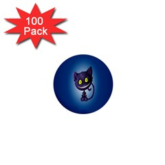 Funny Cute Cat 1  Mini Buttons (100 Pack)