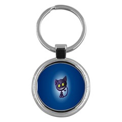 Funny Cute Cat Key Chains (round)  by BangZart