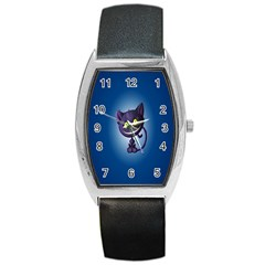 Funny Cute Cat Barrel Style Metal Watch by BangZart