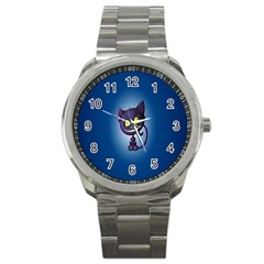 Funny Cute Cat Sport Metal Watch by BangZart