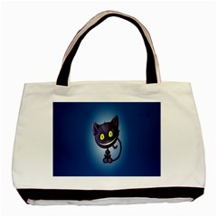 Funny Cute Cat Basic Tote Bag (two Sides) by BangZart