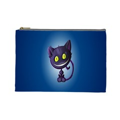 Funny Cute Cat Cosmetic Bag (large)  by BangZart
