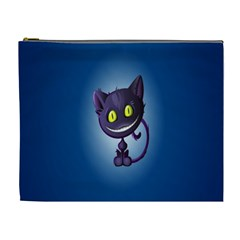 Funny Cute Cat Cosmetic Bag (xl) by BangZart