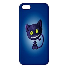 Funny Cute Cat Apple Iphone 5 Premium Hardshell Case