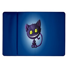 Funny Cute Cat Samsung Galaxy Tab 10 1  P7500 Flip Case