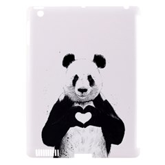 Panda Love Heart Apple Ipad 3/4 Hardshell Case (compatible With Smart Cover) by BangZart