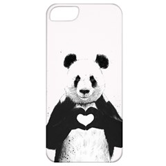 Panda Love Heart Apple Iphone 5 Classic Hardshell Case