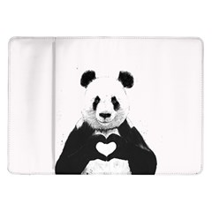 Panda Love Heart Samsung Galaxy Tab 10 1  P7500 Flip Case