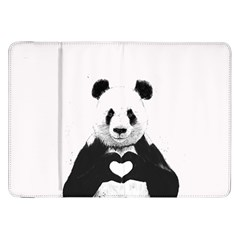 Panda Love Heart Samsung Galaxy Tab 8 9  P7300 Flip Case
