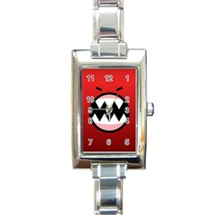 Funny Angry Rectangle Italian Charm Watch