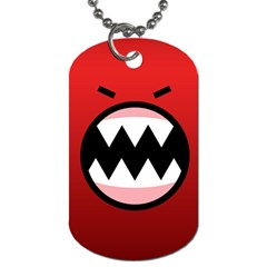 Funny Angry Dog Tag (one Side)