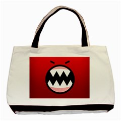 Funny Angry Basic Tote Bag (two Sides) by BangZart