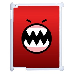 Funny Angry Apple Ipad 2 Case (white) by BangZart
