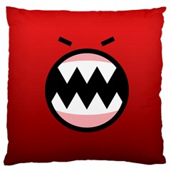 Funny Angry Large Cushion Case (two Sides)