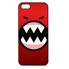 Funny Angry Apple Iphone 5 Seamless Case (black)