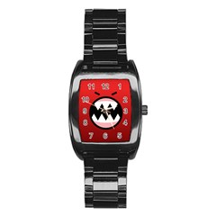 Funny Angry Stainless Steel Barrel Watch by BangZart