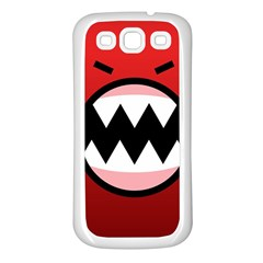 Funny Angry Samsung Galaxy S3 Back Case (white) by BangZart