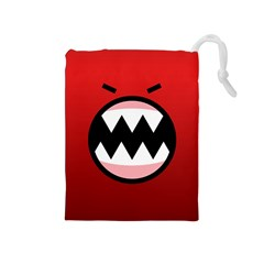 Funny Angry Drawstring Pouches (medium)  by BangZart