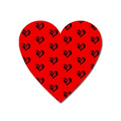 Lovely Hearts 17b Heart Magnet by MoreColorsinLife