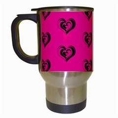 Lovely Hearts 17a Travel Mugs (white) by MoreColorsinLife